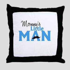 Mommys Little Man Throw Pillow