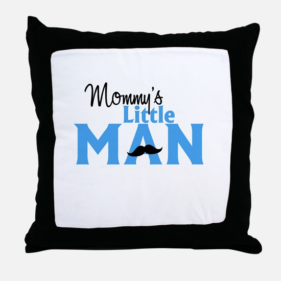 Mommys Little Man Throw Pillow