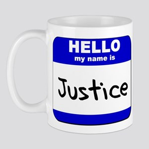 hello my name is justice  Mug