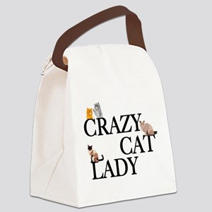Crazy Cat Lady Canvas Lunch Bag