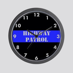 Highway Patrol Wall Clock
