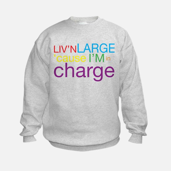 Livn Large cause Im in Charge Sudaderas