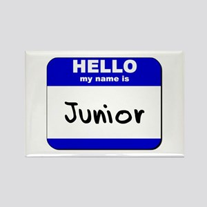 hello my name is junior Rectangle Magnet