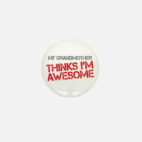 Grandmother Awesome Mini Button