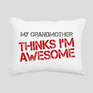 Grandmother Awesome Rectangular Canvas Pillow