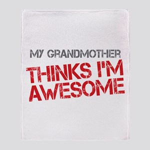 Grandmother Awesome Throw Blanket