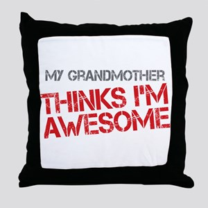 Grandmother Awesome Throw Pillow