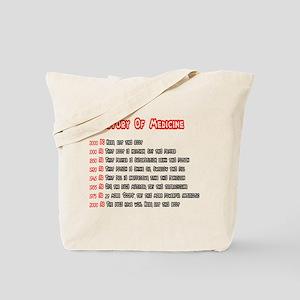 History Of Medicine Tote Bag