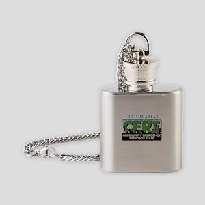 CUSTOM CERT LOGO Flask Necklace