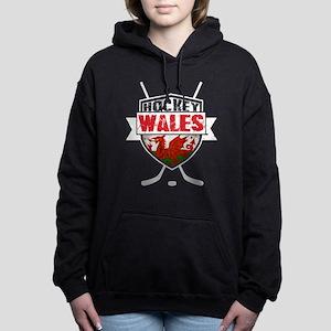 Ice Hockey Wales Flag Shield Hooded Sweatshirt