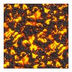 Hot Lava Square Car Magnet 3