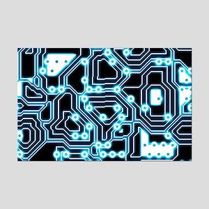 ElecTRON - Blue/Black Mini Poster Print