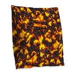 Hot Lava Burlap Throw Pillow