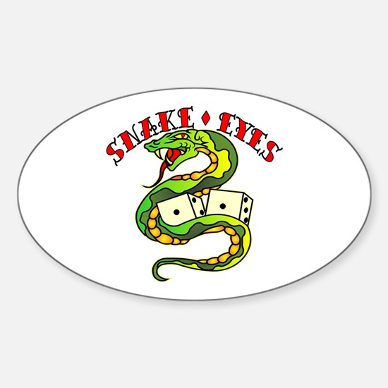 Snake Eyes Sticker (Oval)