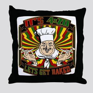 Its 420 - Lets Get Baked Throw Pillow