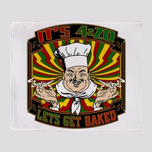 Its 420 - Lets Get Baked Throw Blanket