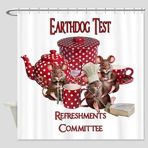 EarthdogTestRefreshments Shower Curtain