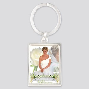 Princess Diana England's Rose Portrait Keychain