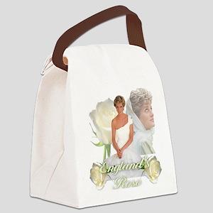 Princess Diana England's Rose Canvas Lunch Bag
