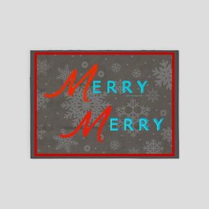 Merry Snowflakes 5'X7'area Rug