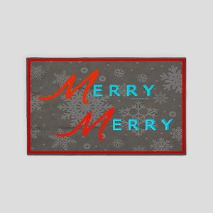 Merry Snowflakes 3'X5' Area Rug