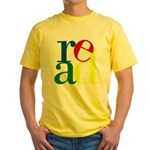 Read - Inspirational Education Yellow T-Shirt