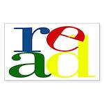 Read - Inspirational Education Sticker (Rectangle)