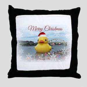 Christmas Duck Throw Pillow