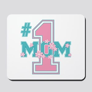 #1 Mom Pink Mousepad