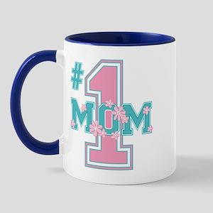 #1 Mom Pink Mug