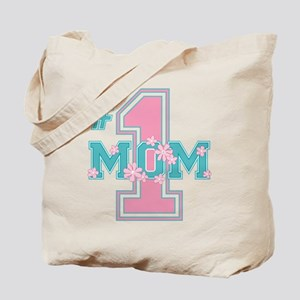 #1 Mom Pink Tote Bag