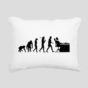 CEO Boss Evolution Rectangular Canvas Pillow