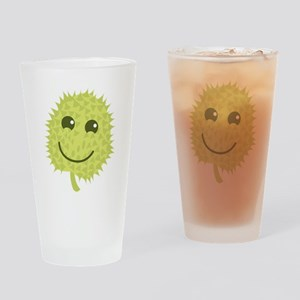 Happy Durian cute fruit with a smile Drinking Glas
