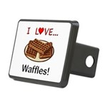 I Love Waffles Rectangular Hitch Cover
