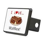 I Love Waffles Rectangular Hitch Cover