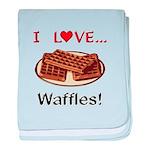 I Love Waffles baby blanket