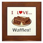 I Love Waffles Framed Tile