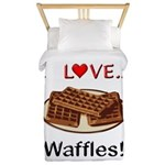 I Love Waffles Twin Duvet