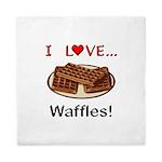 I Love Waffles Queen Duvet