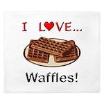 I Love Waffles King Duvet