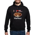 I Love Waffles Hoodie (dark)