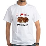I Love Waffles White T-Shirt