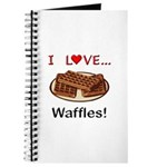 I Love Waffles Journal