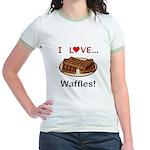 I Love Waffles Jr. Ringer T-Shirt