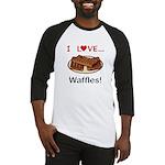 I Love Waffles Baseball Jersey