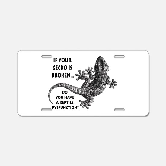 Reptile Dysfunction Aluminum License Plate