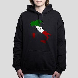 Italy Flag Map Women's Hooded Sweatshirt