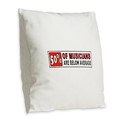 GUITAR Burlap Throw Pillow