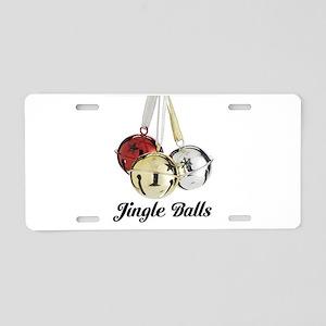 Jingle Balls Aluminum License Plate