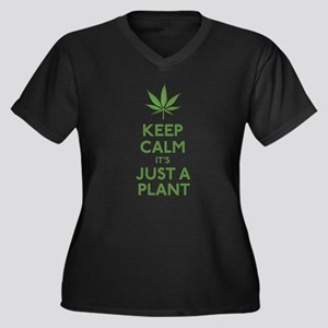 Keep Calm Its Just A Plant Plus Size T-Shirt